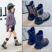 靴子 真皮女童靴子單靴童鞋兒童馬丁靴寶寶短靴二棉靴潮 伊鞋本鋪