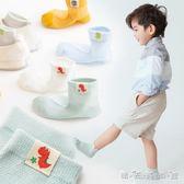 兒童襪子 男童襪網眼透氣短襪 夏季薄款 寶寶襪恐龍棉襪1-3-5-8歲 晴天時尚館