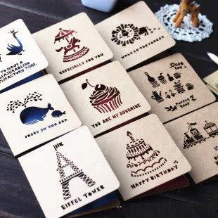 【01204】 復古回憶 鏤空賀卡 創意節日 情人節 生日 祝福卡片 附信封