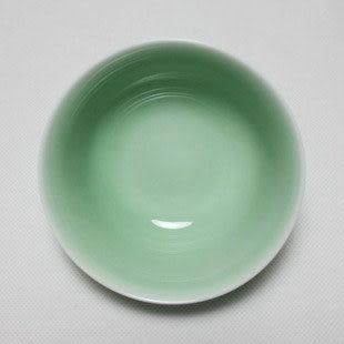 龍泉青瓷 竹葉浮雕碗