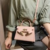 上新小包包女冬季新款潮韓版百搭鱷魚紋質感斜挎包時尚手提包 晴天時尚館