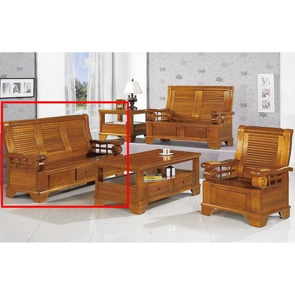 沙發 PK-302-10 108型柚木組椅三人椅(不含茶几)【大眾家居舘】