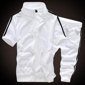 男式短袖加大碼T恤男運動套裝 男款胖子衣服一套春夏裝加肥半袖薄 父親節禮物