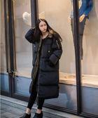棉衣女中長款2018新款韓版棉懊bf寬鬆棉服加厚過膝學生ins面包服   後街五號