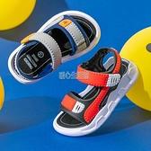 男童涼鞋2021新款夏季中大童男孩軟底防滑小童寶寶鞋兒童沙灘涼鞋 快速出貨