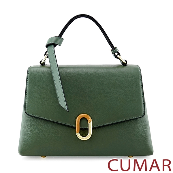 CUMAR  信封掀蓋兩用斜背包-抹茶綠色