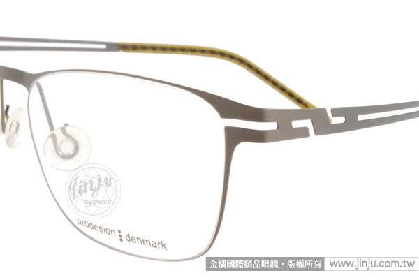 【金橘眼鏡】Prodesign denmark眼鏡#PRO6112 C6536 灰 丹麥設計-(免運)