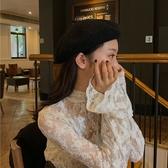 蕾絲打底衫蕾絲打底衫女內搭寬松網紗洋氣秋冬新款超仙韓版外穿長袖時尚上衣 夏季新品