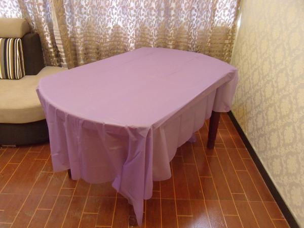[韓風童品]一次性素色加厚桌布 派對桌巾 防水防油加厚桌布 生日派對 露營桌布  長方形桌布