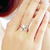 日韓純銀戒指女款925銀簡約狐貍開口戒