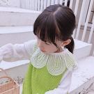 *╮s13小衣衫童裝╭*女童輕甜味圓圓花瓣紗領長袖白色上衣1080918