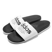 adidas 拖鞋 Adilette Comfort 黑 白 基本款 黑白 舒適好穿 男鞋 女鞋【ACS】 FX4287