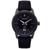 SEIKO 疾速競賽款的黑色男性手錶(SUR271P1)-黑面X黑色/40mm