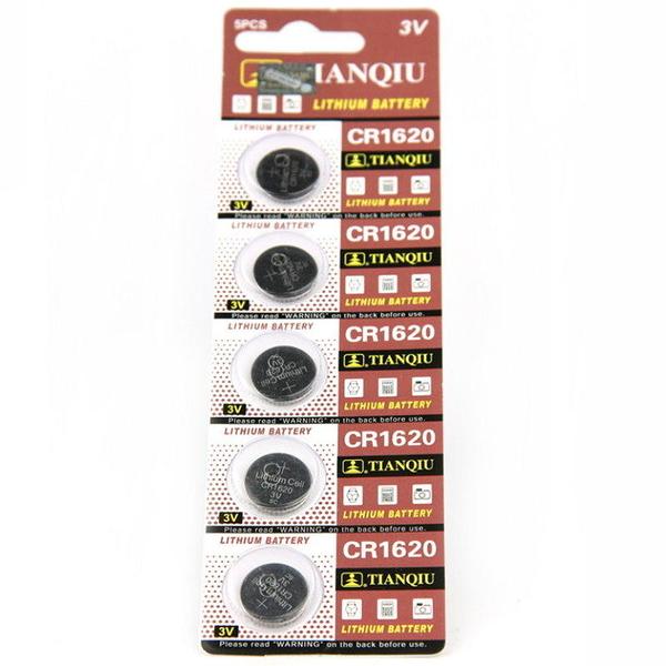【GU305】環保型鈕扣電池/水銀電池CR1620 汽車遙控器電池 3V(一卡5顆)~不拆售 EZGO商城