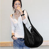 韓版潮軟皮休閒簡約大容量單肩包側背包大包包女包手袋51 限時八五折