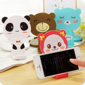 【00010】 韓國可愛卡通折疊鏡子 手機支架 適用 HTC Samsung iPhone Sony 各種手機及平板