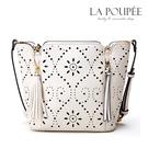 側背包 鏤空雕花獨特圖騰花朵流蘇拉鍊大方包-La Poupee樂芙比質感包飾 (預購)