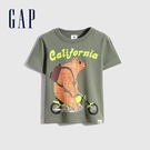 Gap男幼童 布萊納系列 可愛印花純棉短袖T恤 701451-綠色