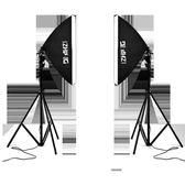 攝影棚 LED柔光箱雙攝影燈套裝 小型攝影棚微商產品人像拍攝拍照照相補光