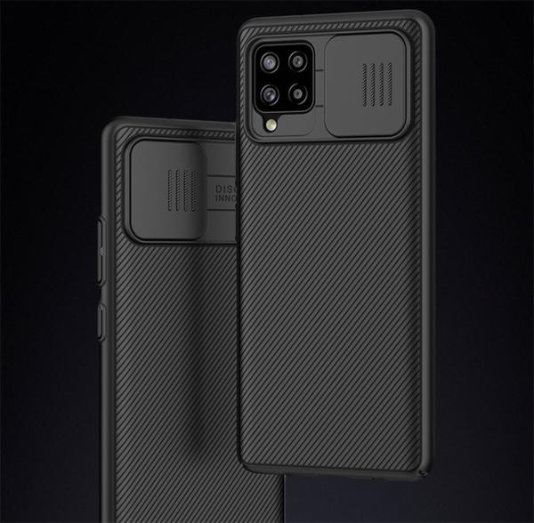 三星 Galaxy A32 A42 (5G) 高檔原裝 Nillkin 黑鏡系列 推拉窗鏡頭保護殼 碳纖維紋全包防摔軟殼 手機殼