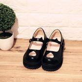 日系復古愛心厚底鞋軟妹單鞋女鞋甜美軟萌貓咪鞋圓頭娃娃鞋 居享優品