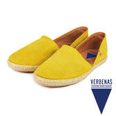 【VERBENAS】CALPE卡爾佩牛皮草編鞋/休閒鞋  黃色(058-YE)