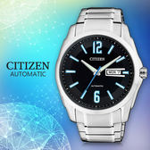 CITIZEN 星辰手錶專賣店 NH7490-55E  男錶 機械錶 礦物玻璃 防水100米 不鏽鋼錶殼錶帶