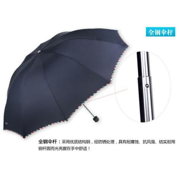 [全館5折] 十骨 創意 雨傘 防紫外線 太陽傘 碰 三折