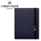 CARAN d'ACHE 瑞士卡達 LEMAN 利曼系列 小牛皮A5筆記本.紫藍 / 本