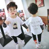 男童長袖t恤童裝寶寶上衣兒童純棉體恤小孩打底衫潮 探索先鋒