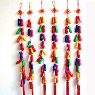 新年用品中國結18顆彩色花生 中國結飾串70g