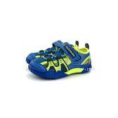 中童 日本 MOONSTAR 月星 CARROT 透氣 魔鬼氈 運動機能鞋 涼鞋《7+1童鞋》C409 藍色