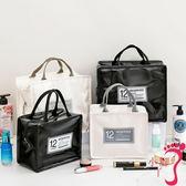 化妝包  網紅化妝包女小號便攜韓國簡約大容量手提洗漱品收納袋ins風超火
