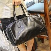 新款大容量手提包旅行包男運動健身包單肩斜挎行李袋男士出差包 壹電