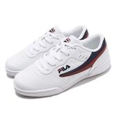 FILA 休閒鞋 J327T 白 紅 鞋面皮革 復古 小LOGO 男鞋 女鞋 運動鞋【PUMP306】 4J327T123