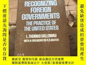 二手書博民逛書店罕見RECOGNIZING FOREIGN GOVERNMENT