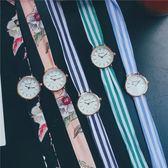 綁帶手錶女學生韓版簡約休閒大氣時尚潮流ulzzang文藝森繫布帶錶 〖korea時尚記〗