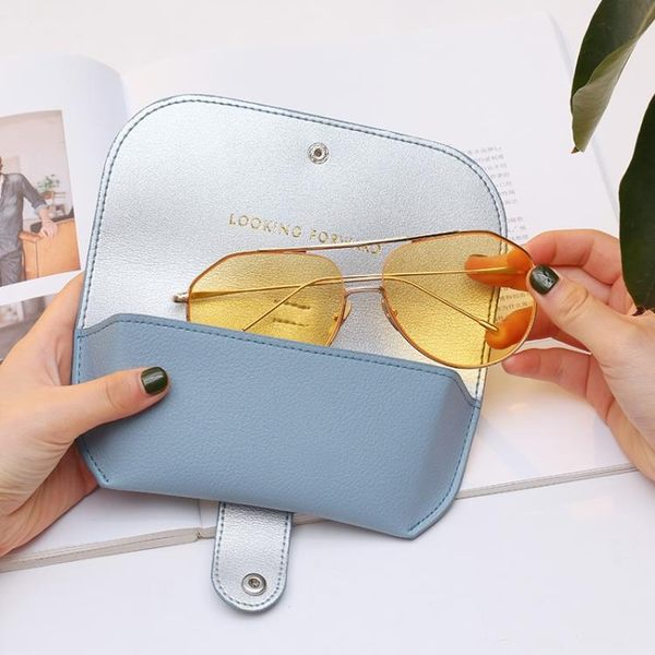 新品上架▶ 便攜可愛太陽鏡盒眼鏡盒時尚眼鏡袋眼鏡保護套少女眼睛夾包男 ☸mousika