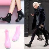 雨鞋 雨鞋 短筒水靴膠鞋防滑