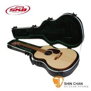 吉他硬盒 ►民謠吉他專用硬盒 SKB SKB-000 OM型  可鎖【SKB000/000 Sized Acoustic Guitar Case】