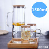 廚房用品 大容量高硼硅玻璃水壺1500ml 加厚透明【KIN005】收納女王