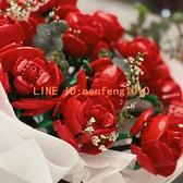 2支裝 樂高玫瑰花花束永生花創意情侶女生禮物仿真花積木玩具【白嶼家居】