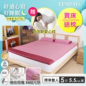 床墊-TENDAYs 5尺標準雙人5.5cm厚-DS柔眠記憶床墊(乾燥玫瑰)網路限定款
