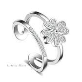 S925銀 經典時尚風格戒指-維多利亞1606112