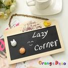 【橘果設計】掛鍊式雙面小黑板小白板迷你可...