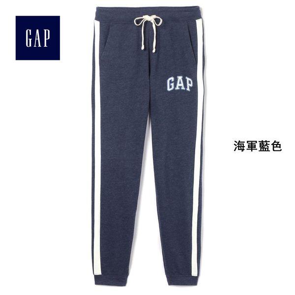 Gap女裝 Logo印花束口休閒褲 440776-海軍藍色