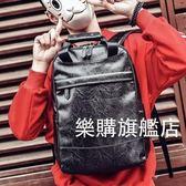 男士正韓後背包潮流背包電腦包時尚學生旅行包休閒男包PU皮質書包後背包