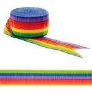 皺紋紙彩帶-彩虹