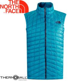 【The North Face 男 ThermoBall 暖魔球 保暖背心 瓷釉藍】C940/暖魔球背心★滿額送