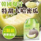 【果之蔬-全省免運】韓國特大哈密瓜2入禮盒X1盒(約3公斤/盒(日本品種))